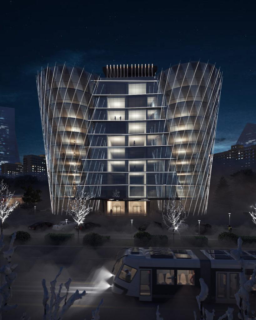 Фасад бизнес-центра
