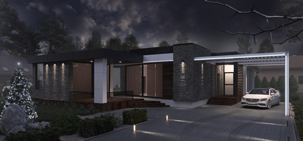 Жилой дом в стиле минимализм
