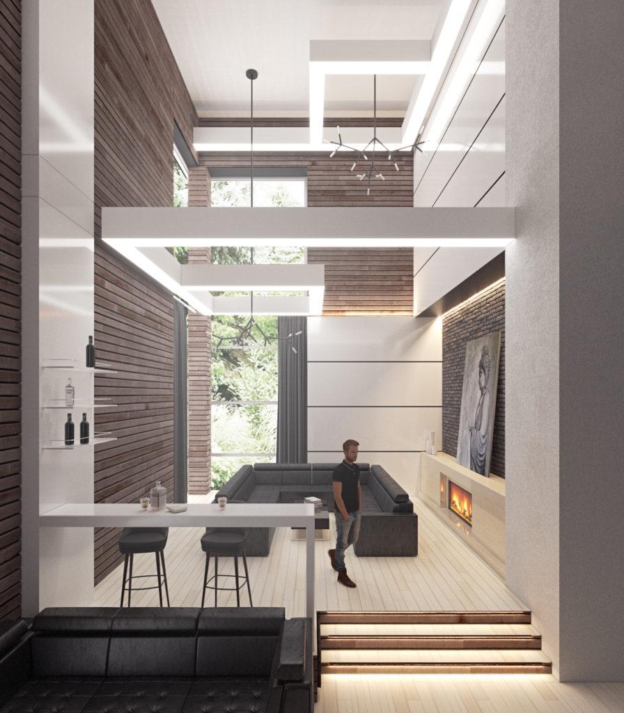 Дизайн интерьера в стиле хайтек