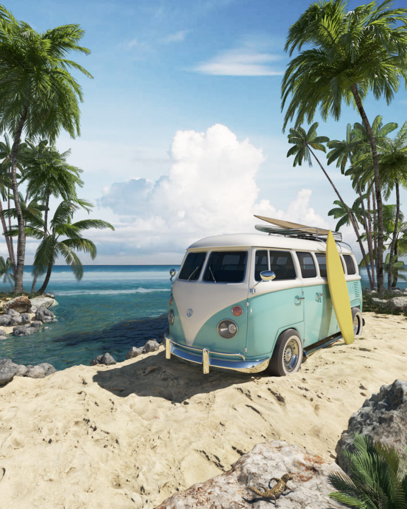 VW hippie bus
